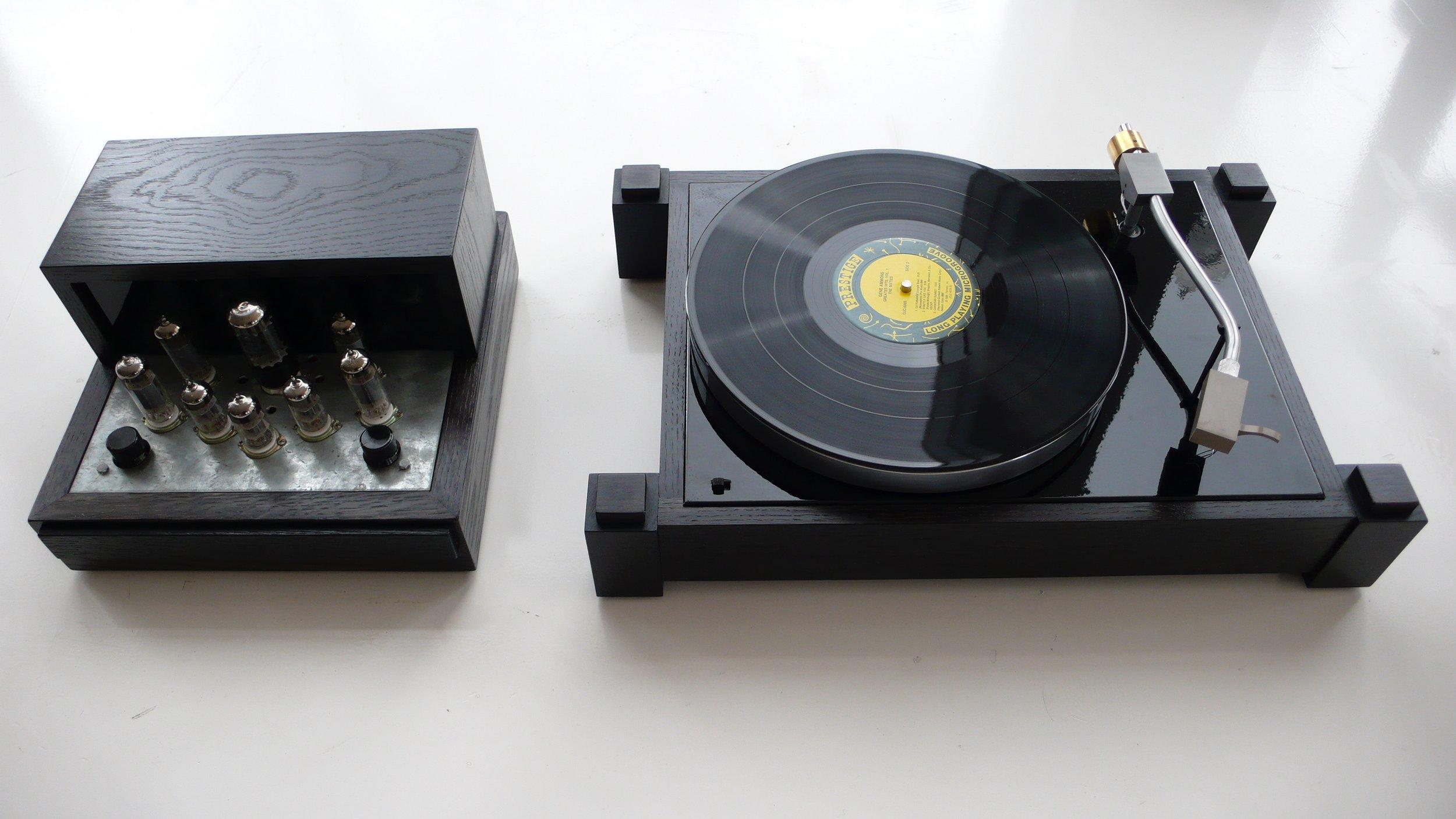 Amp and AR Turntable Plinth Set
