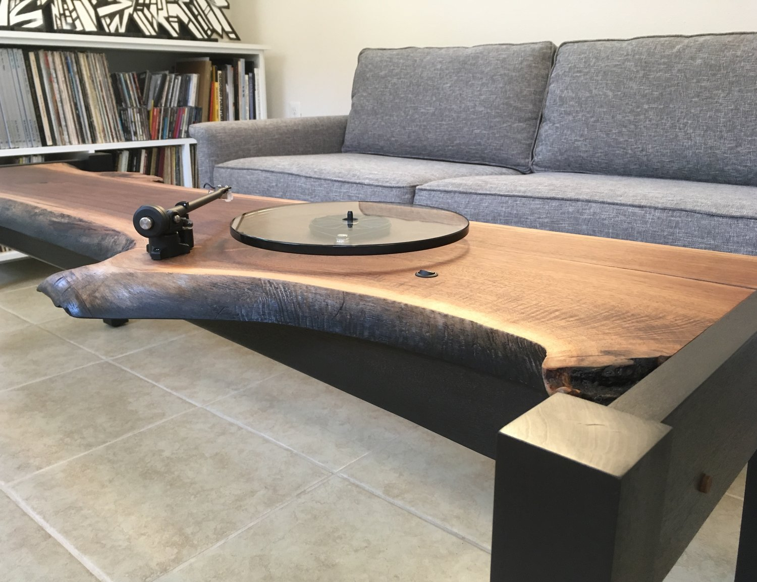 Audiowood Sit And Spin Coffee Table Turntable Audiowood