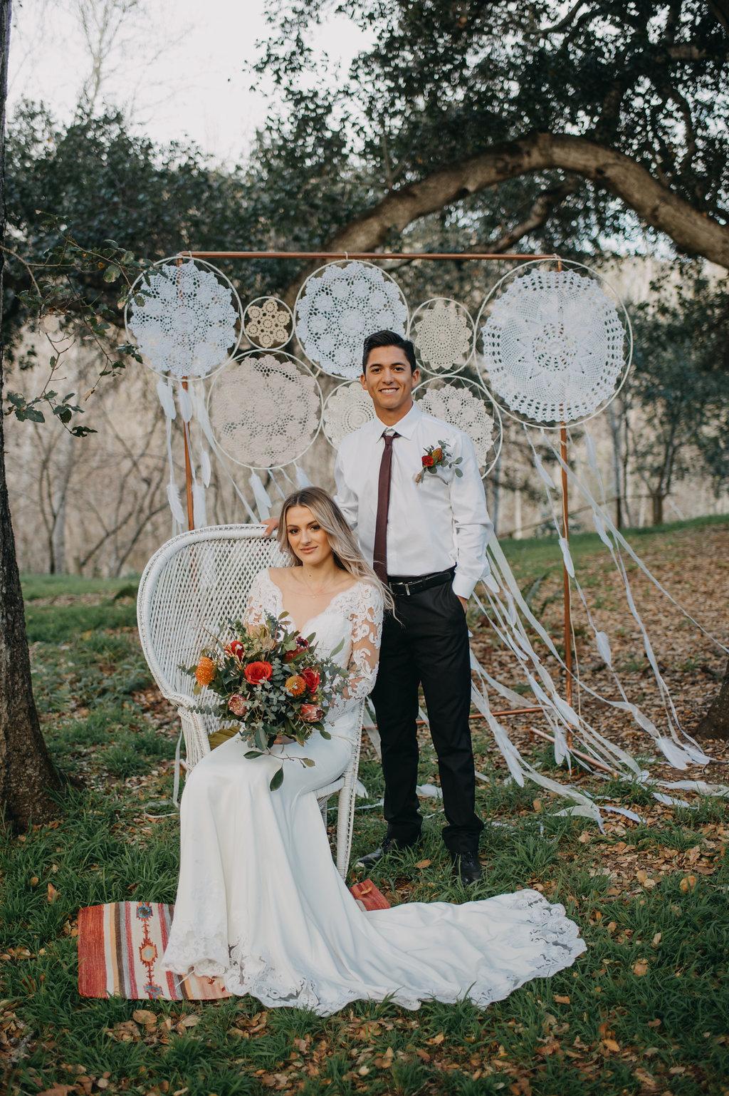 Wedding Chicks feature Boho wedding long sleeve lace wedding dress fall wedding