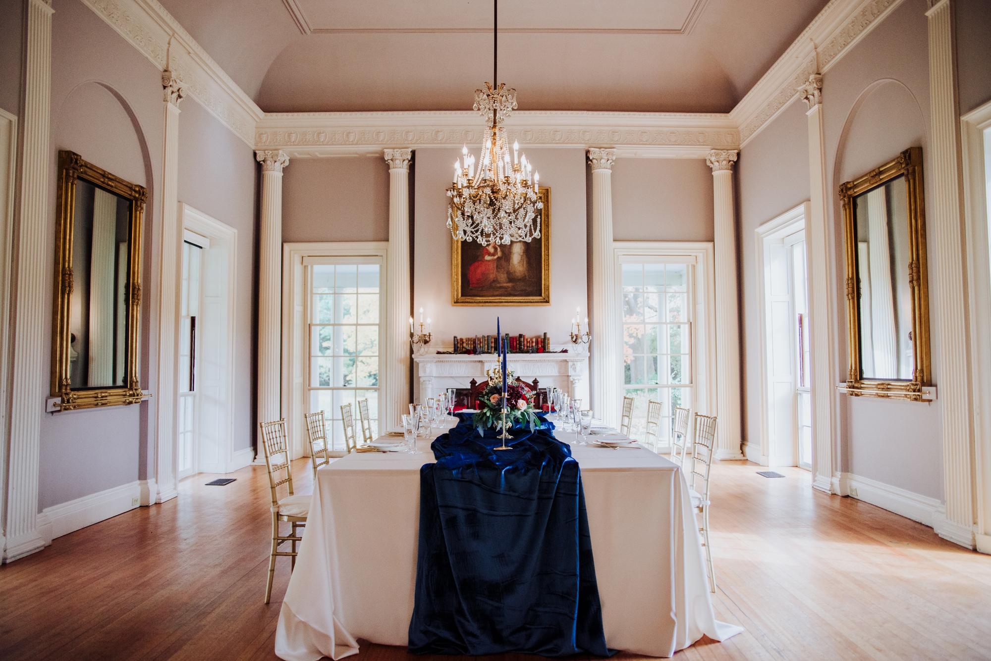 regal lyman estate wedding photoshoot interior