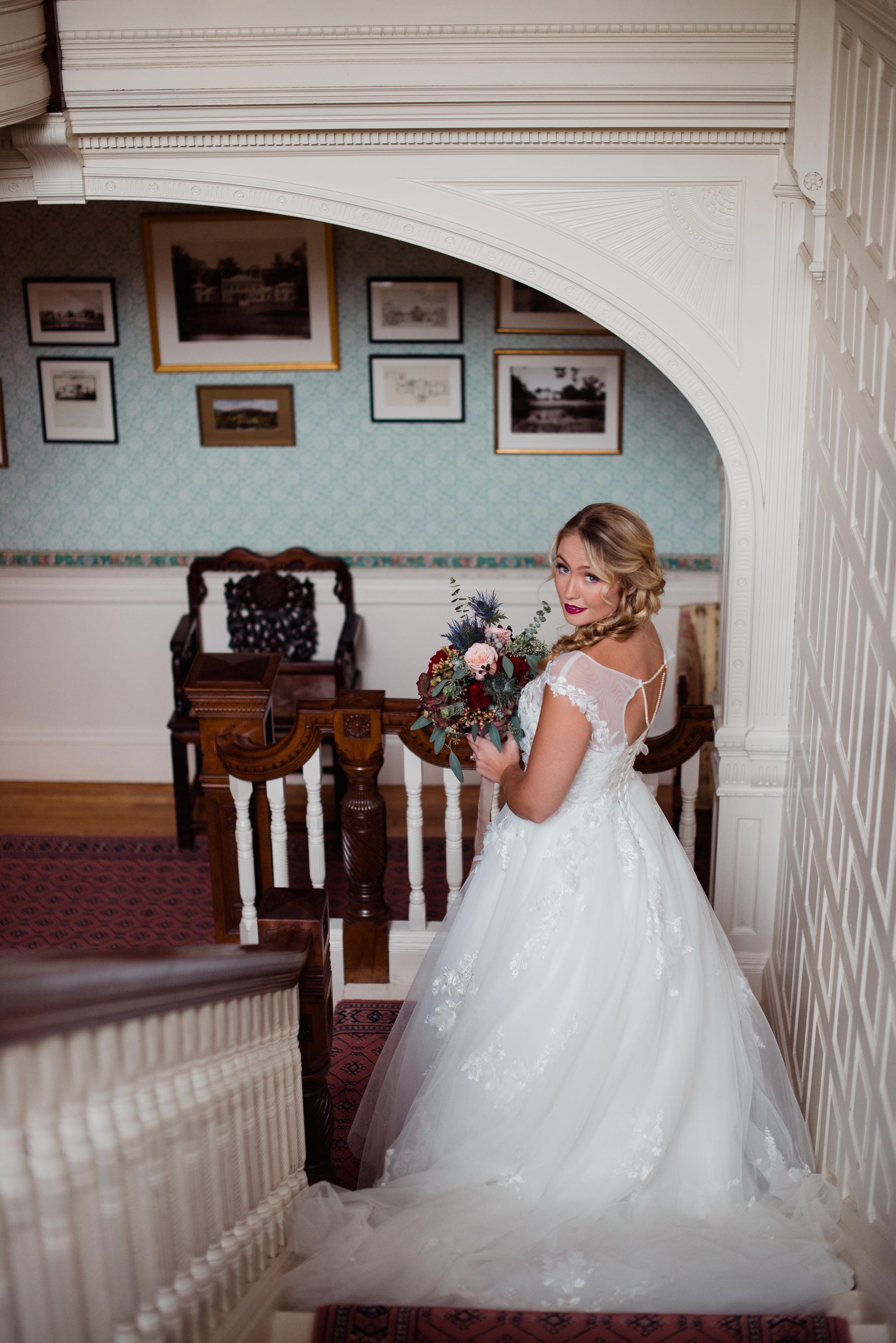 candidi wedding photo idea stairs turning heads