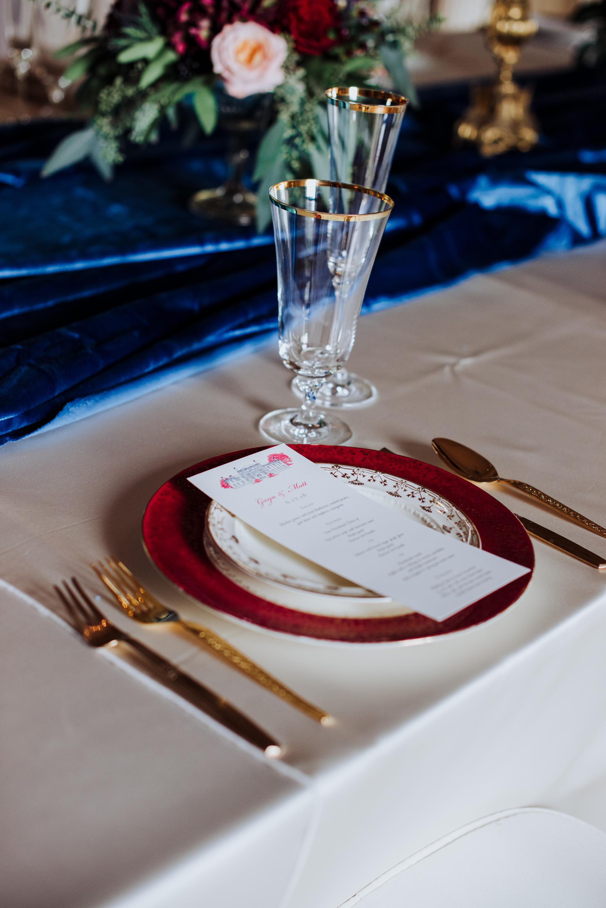 royal wedding tablesetting