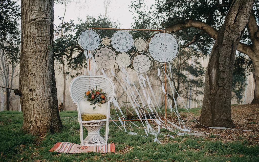 boho picnic wedding photoshoot