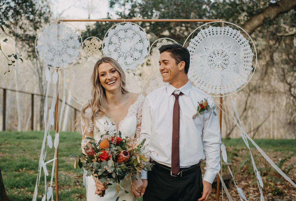 wedding photo bride and groom candid smile photo inspiration wedding dress under $1000
