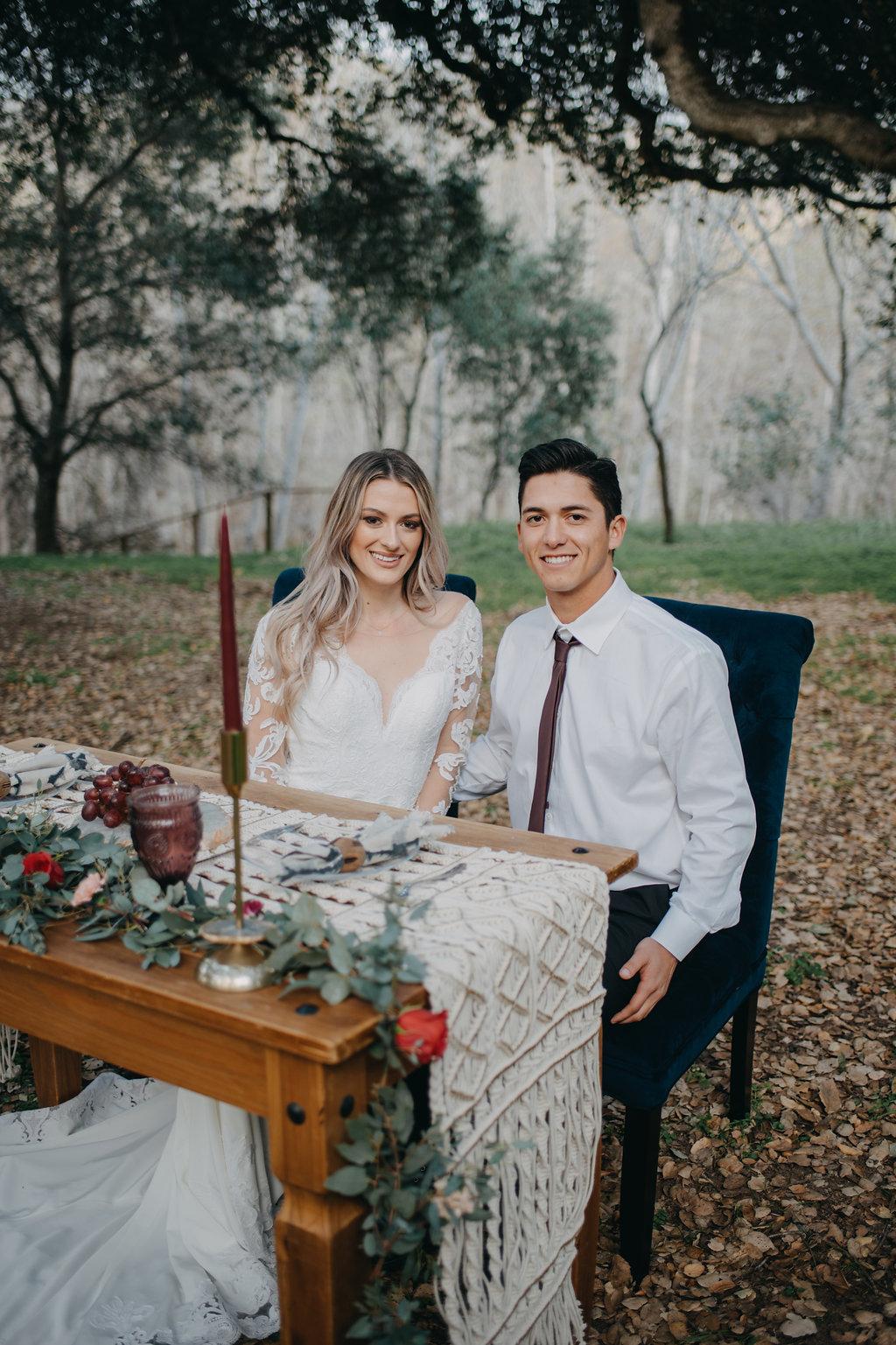 regal fall winter holiday wedding colors trend boho wedding dress under $1000
