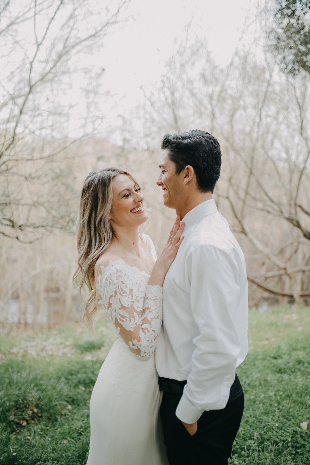 clean simple wedding dress for modern brides
