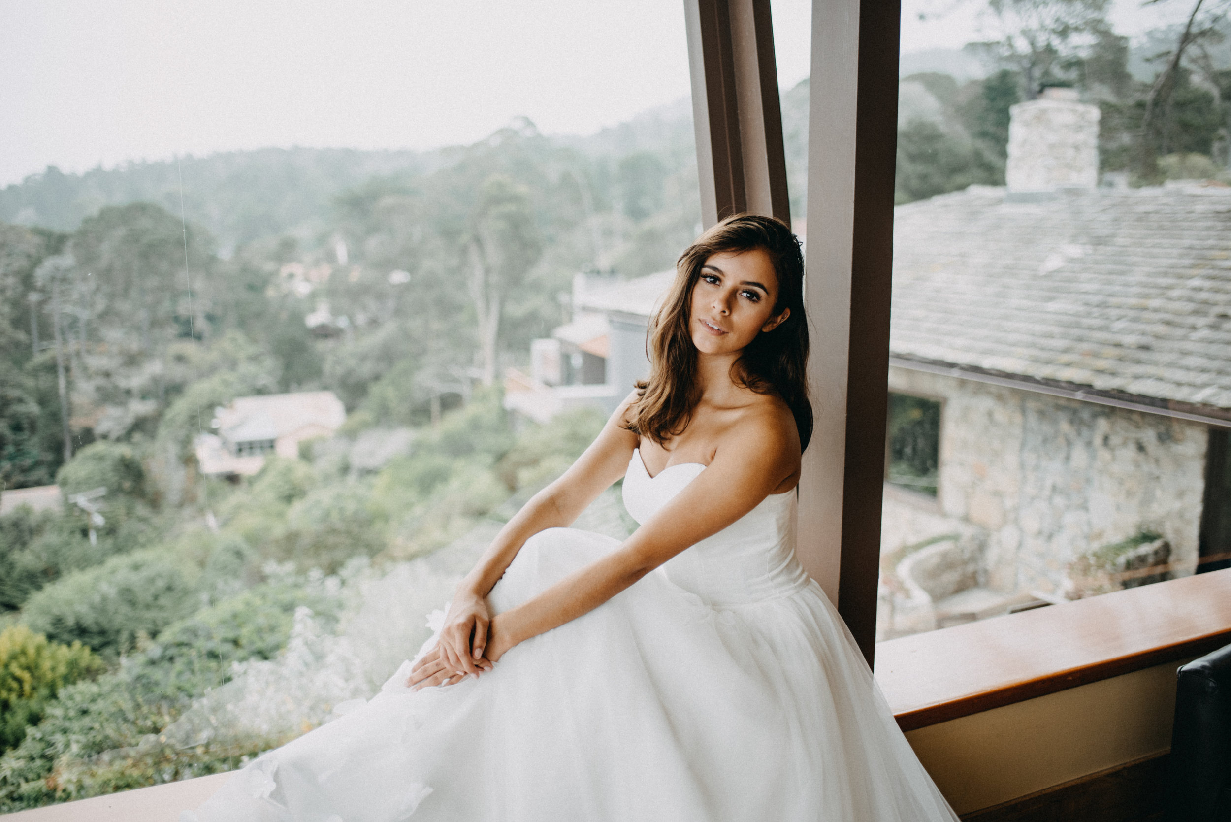 simple wedding dress photoshoot carmel california