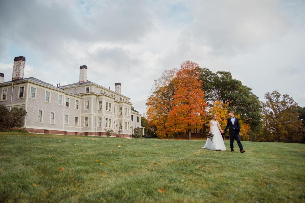 historical new england estate regal wedding fall wedding