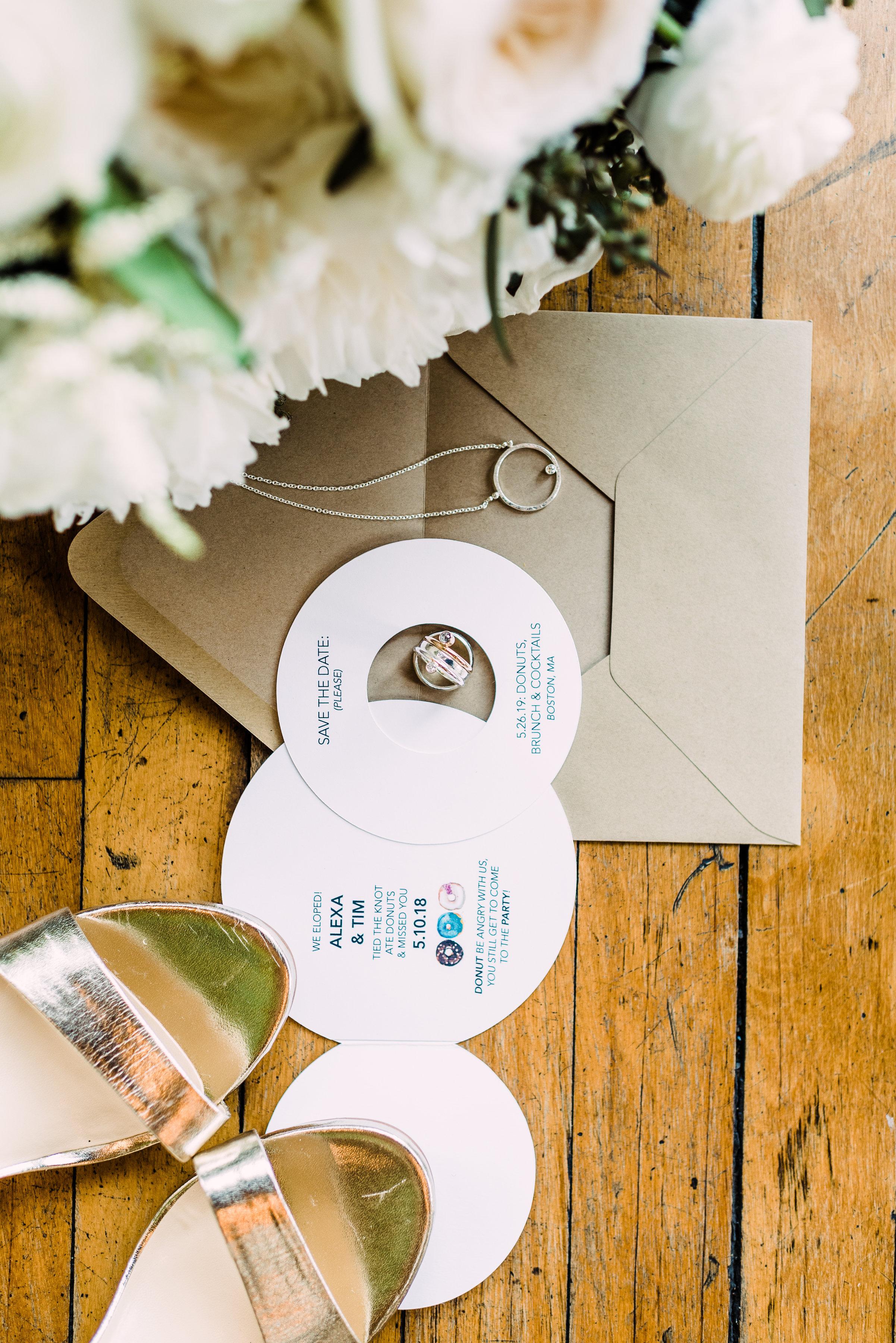 simple but elegant wedding invitation DIY wedding invitation DIY elopement invitation