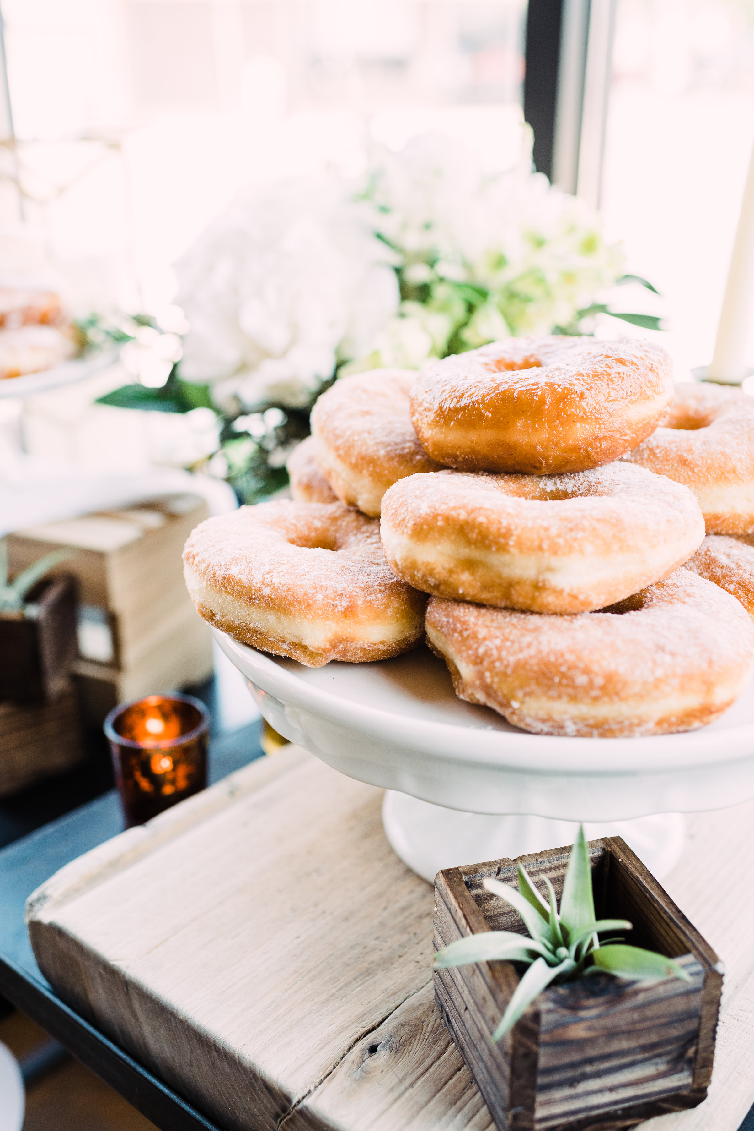 unique wedding food and catering donuts for summer wedding
