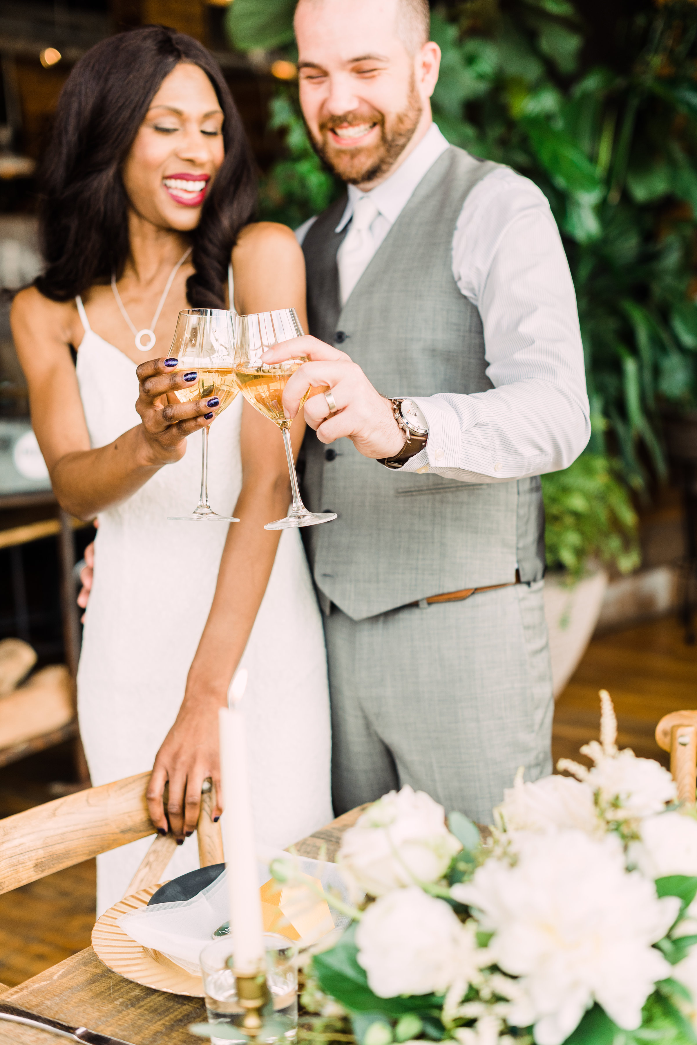 champagne wedding photography simple wedding dress