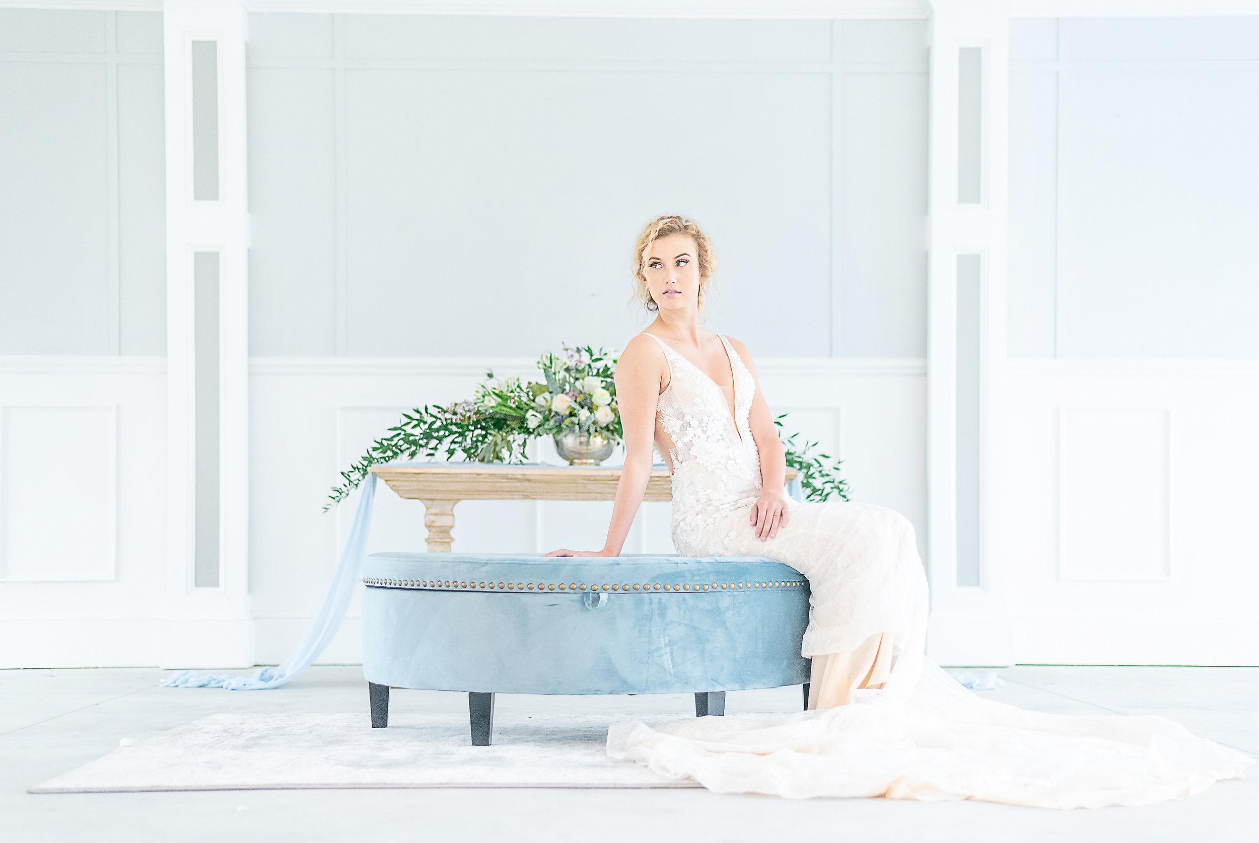 deep v plunging wedding dress peach toned wedding gown under $1000