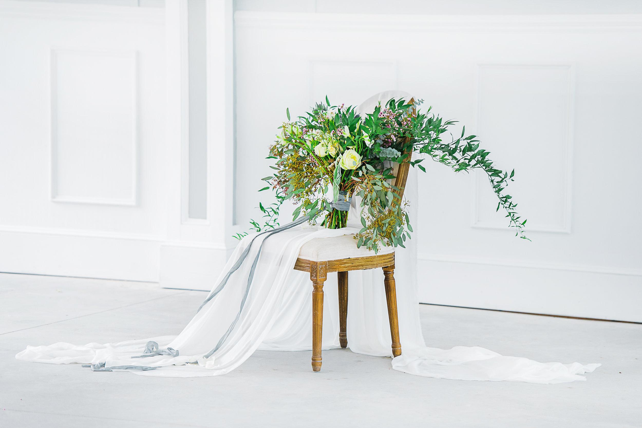 seasonal flower wedding bouquet