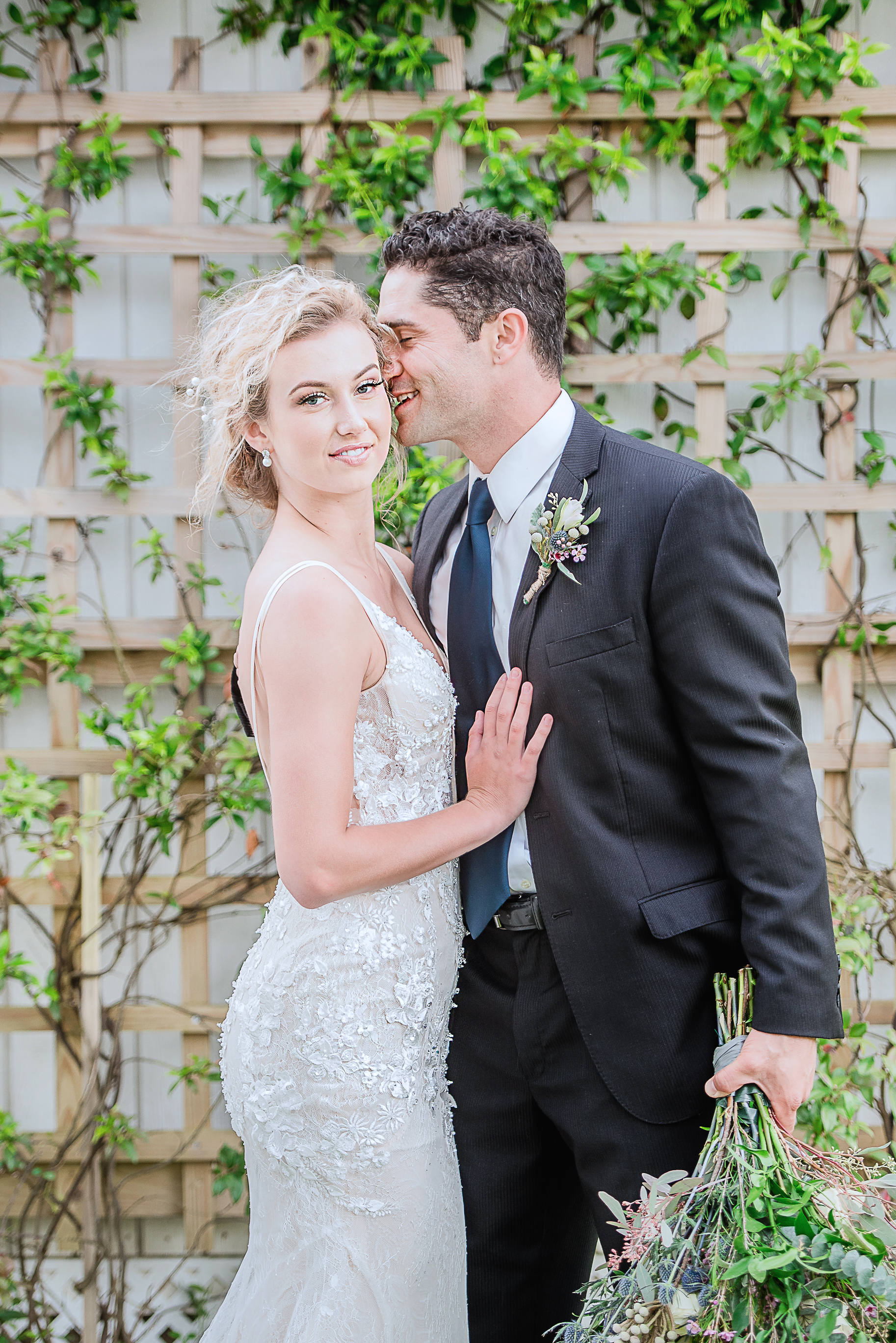 custom made wedding dress under $1000 peach toned wedding gown mermaid fit and court train