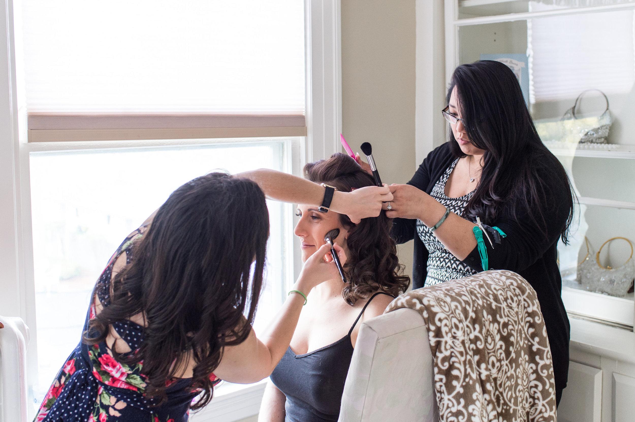 behind the scenes wedding makeup and hair