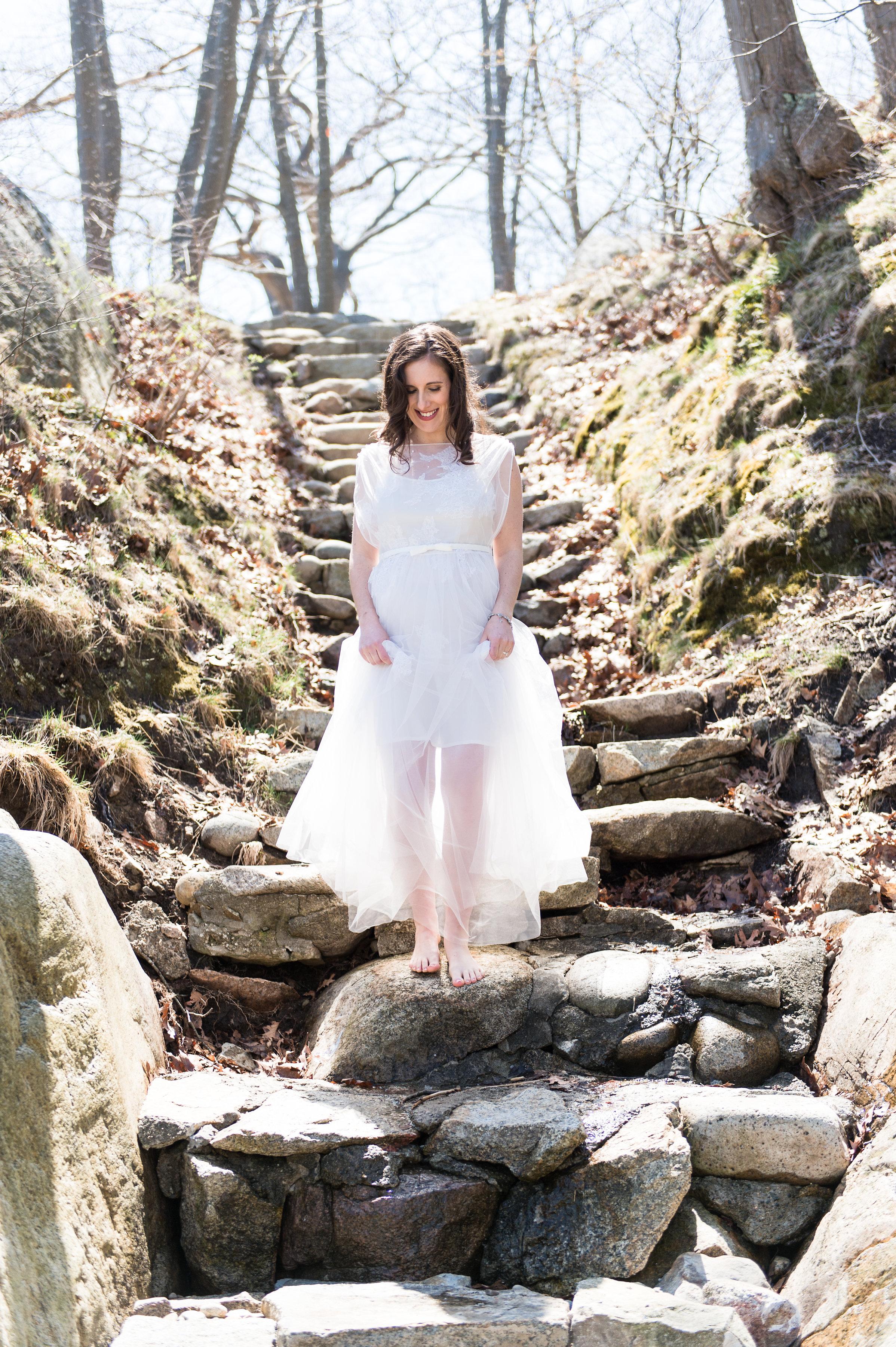 fun unique two piece wedding dress with shorter slip dress playful bride