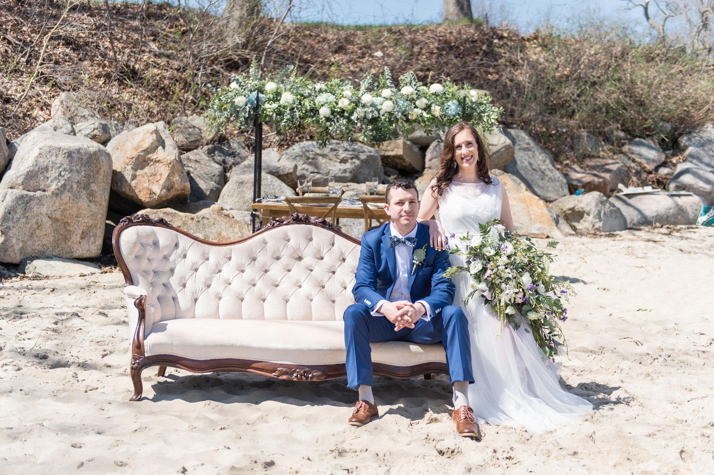 unique beach wedding photography gloucester MA wedding lightweight summer wedding dress