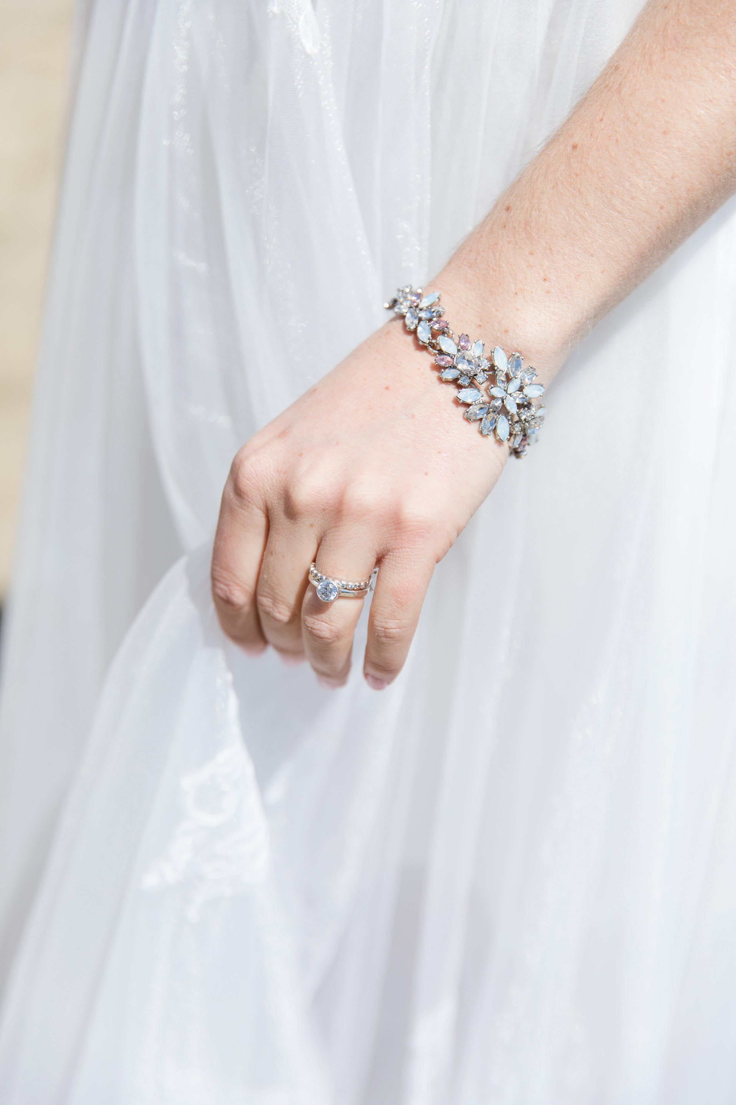 simple statement wedding jewelry