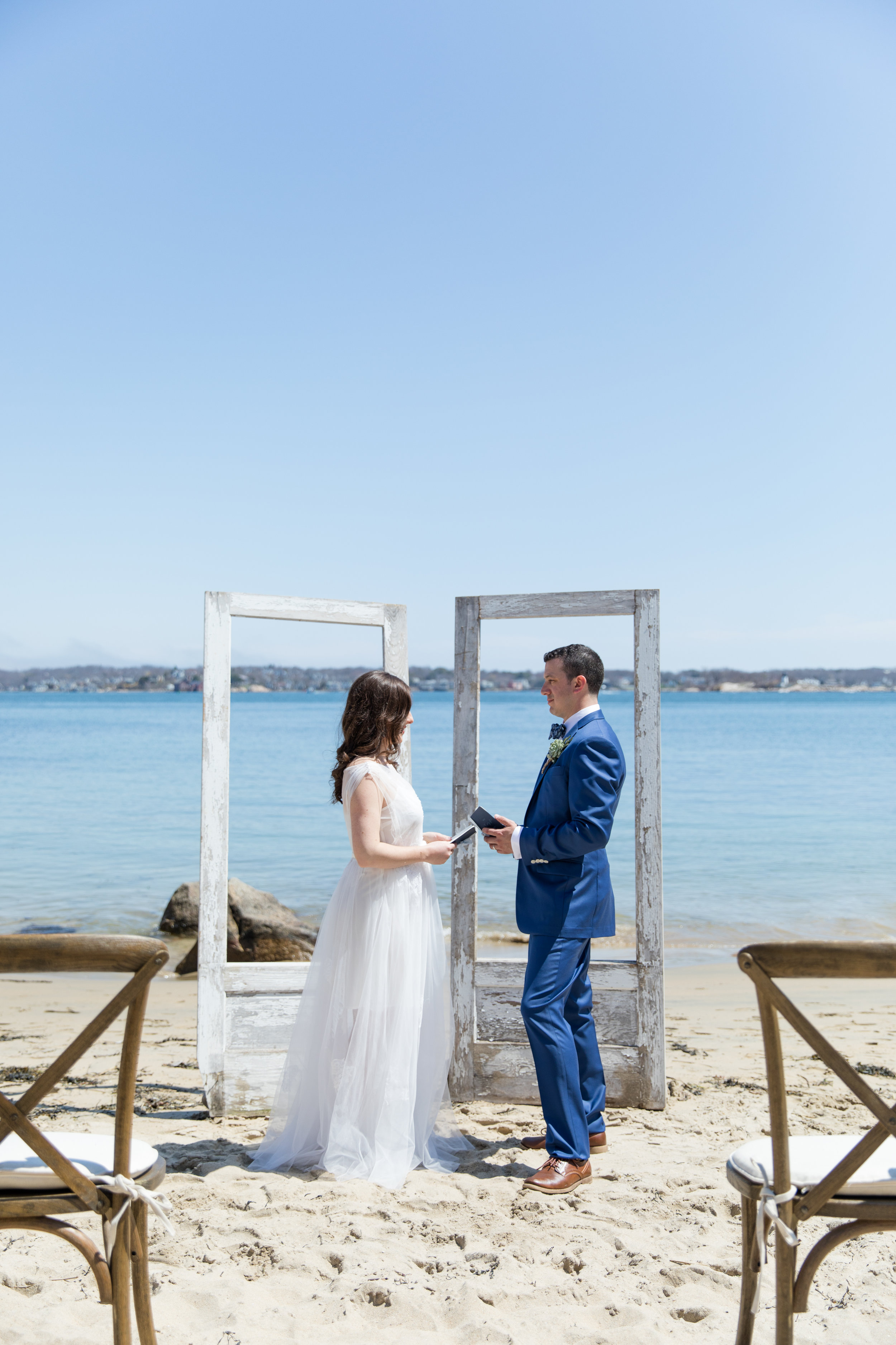 rustic beach wedding photography unique two piece wedding dress short slip and longer tulle layer