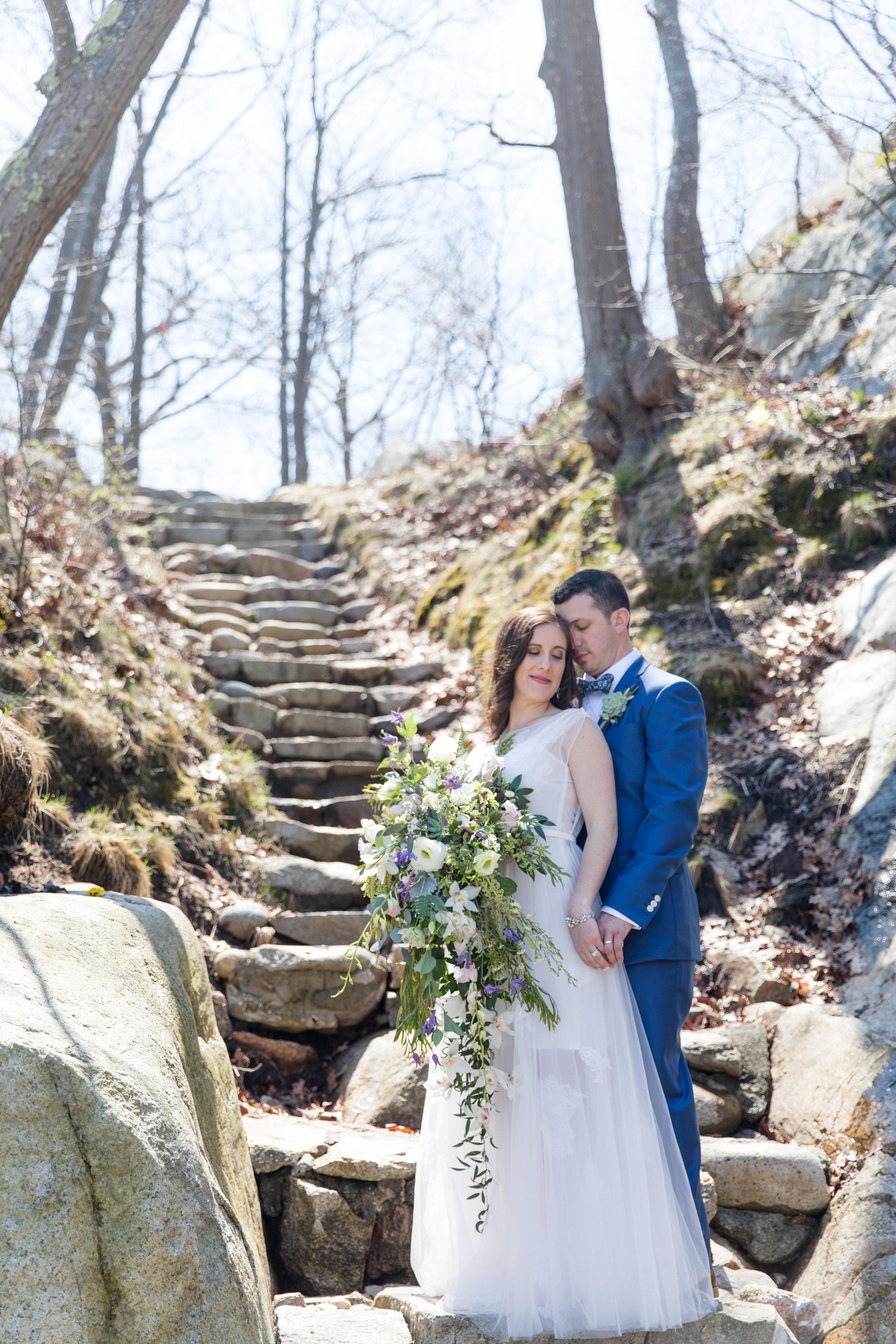 intimate couple wedding photo