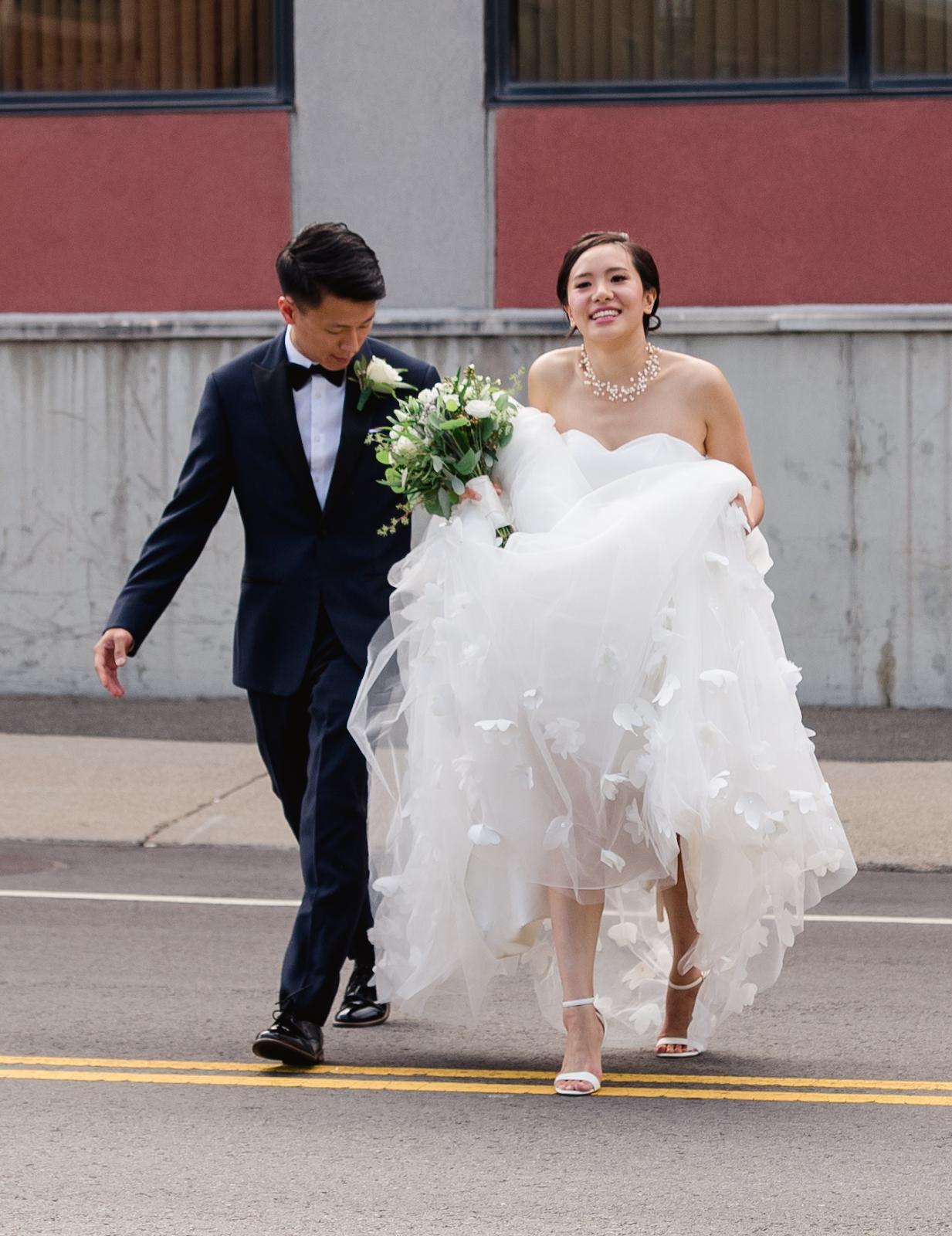 wedding dress photos real women real wedding shoes poking out wedding photo