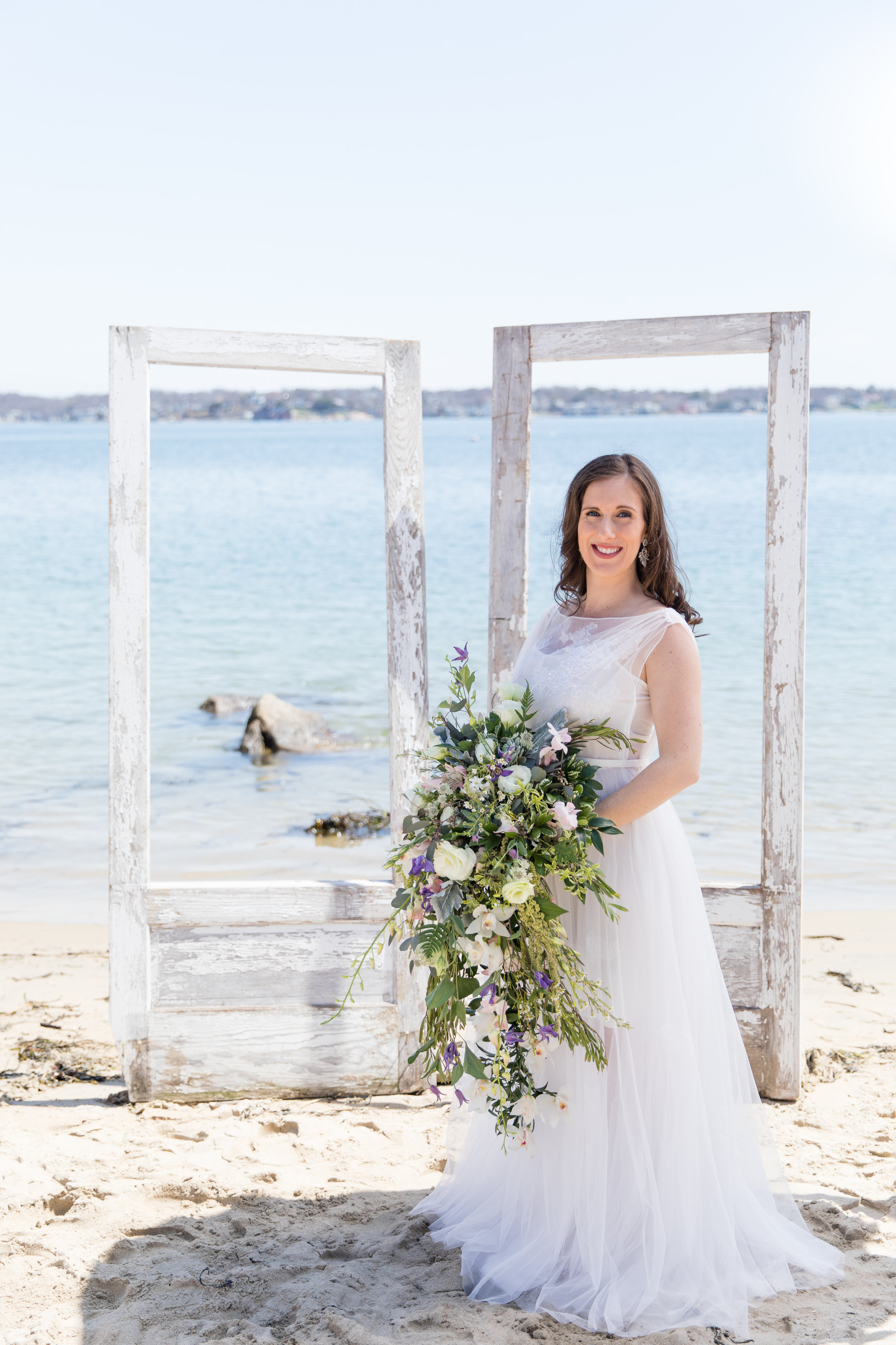 custom made lightweight unique two piece wedding gown