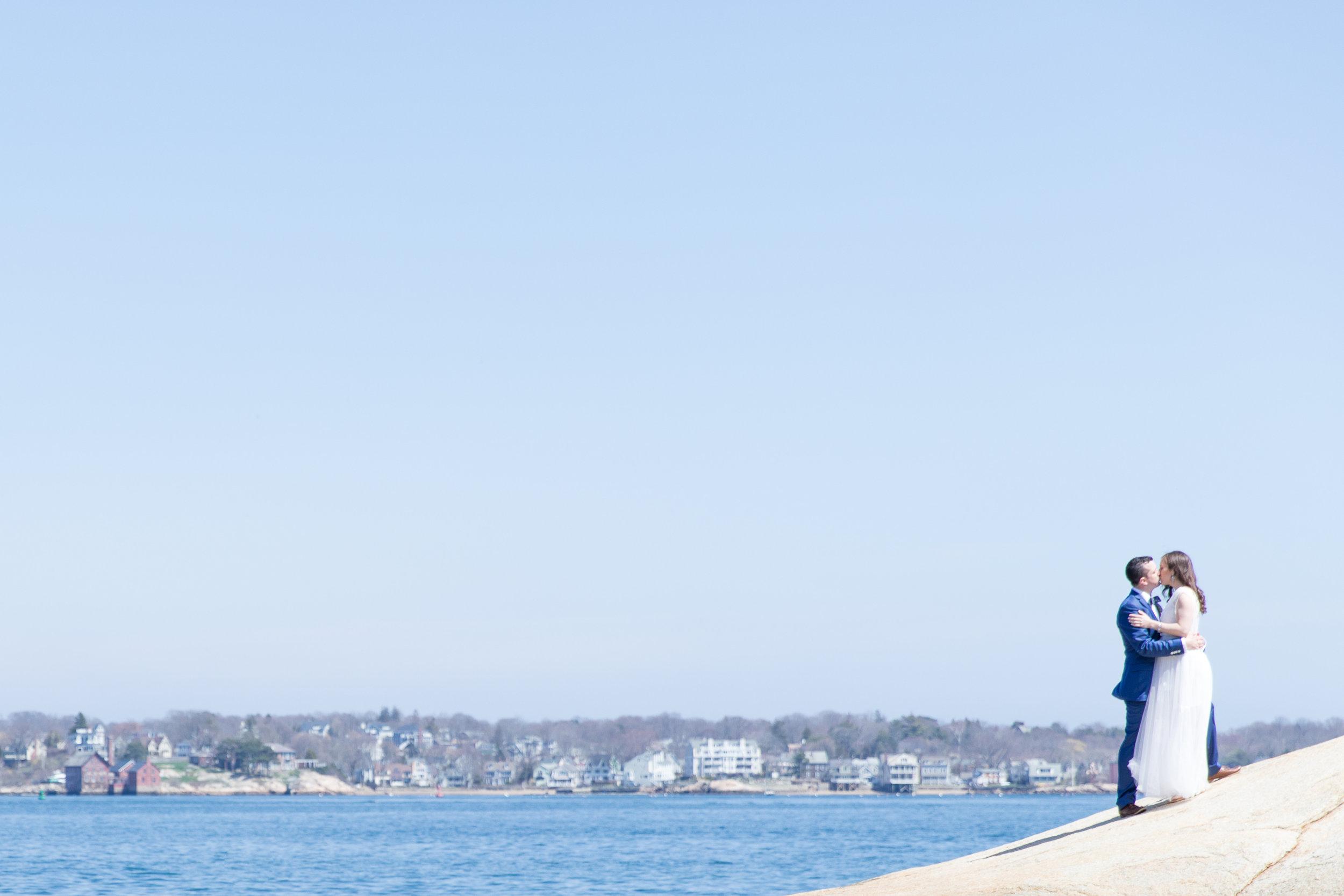 gloucester boston wedding waterfront wedding photoshoot summer wedding photo
