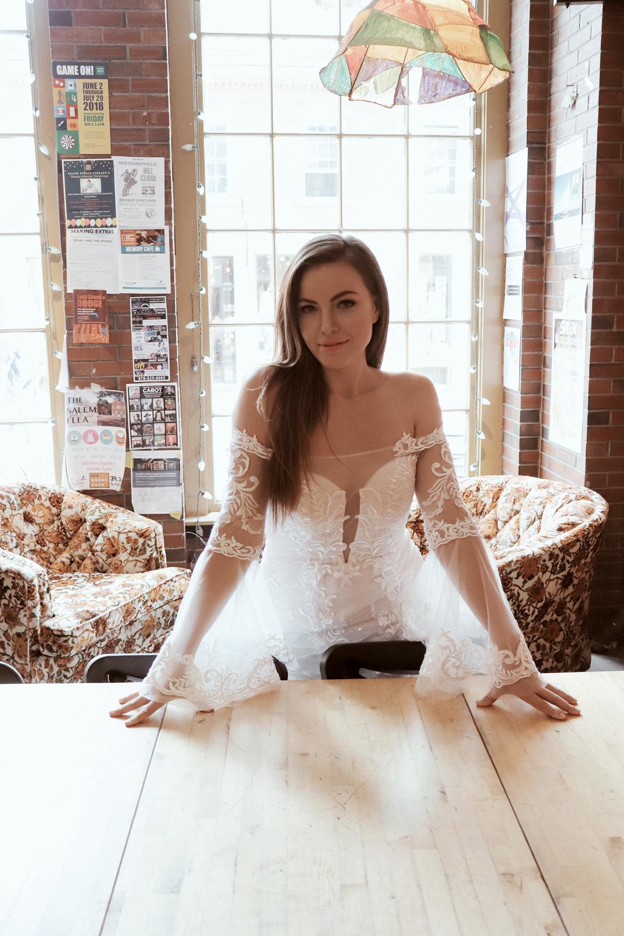 Off Shoulder Wedding Gown