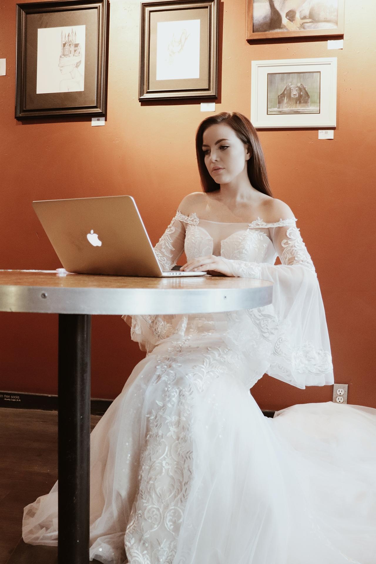 coffee shop bride