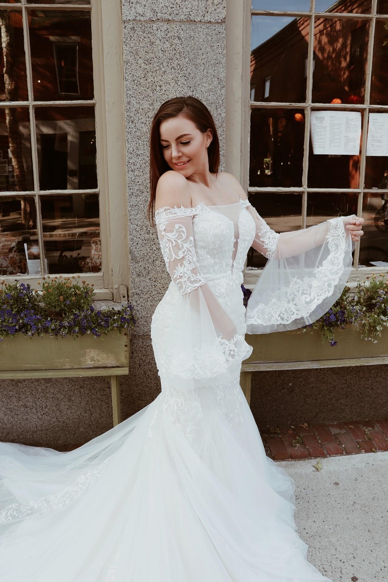 Playful wedding dress