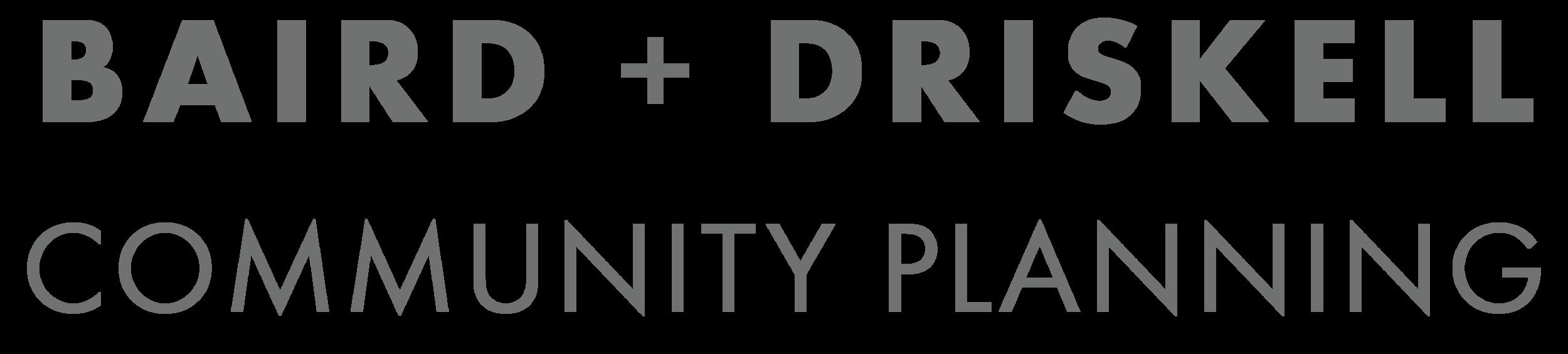 Baird + Driskell Community Planning