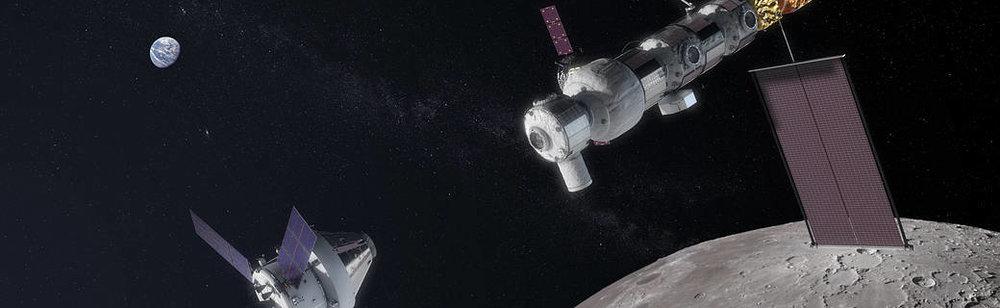 Lunar Orbital Platform - Gateway. Courtesy of NASA