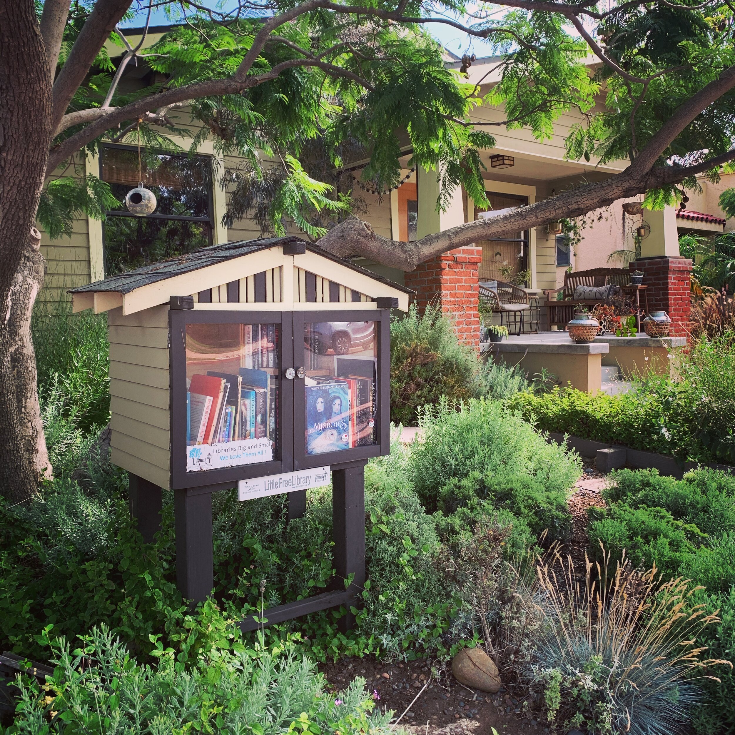 We've been dropping copies of our books in Free Little Libraries around San Diego.