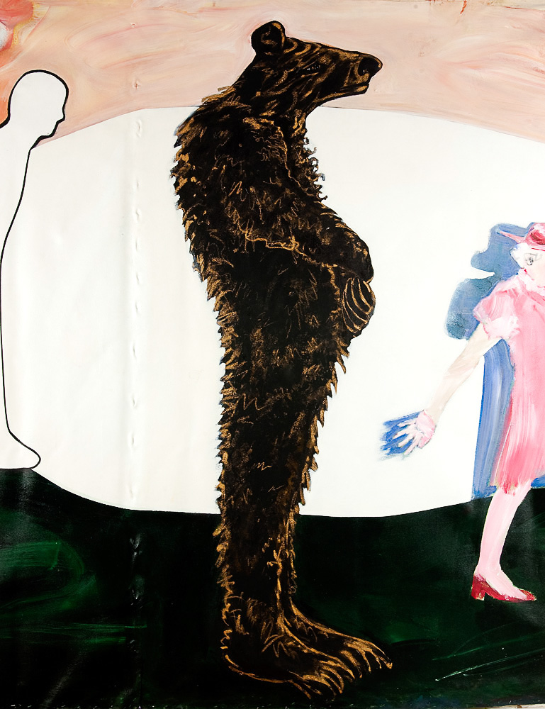 "Bear    Detail  mixed media on canvas  96"" x 73"", 1983"