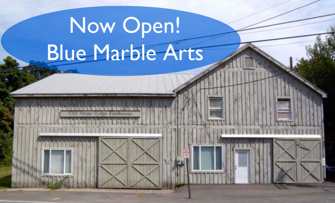 Blue Marble Arts is located in the Old Stone Ridge Firehouse in Stone Ridge, N.Y. It is the new home to hundreds of works by the artist Marilyn Reynolds. - Blue Marble is open to the public by appointment and Sundays 11-1.Please call (845) 657-7024 for more information