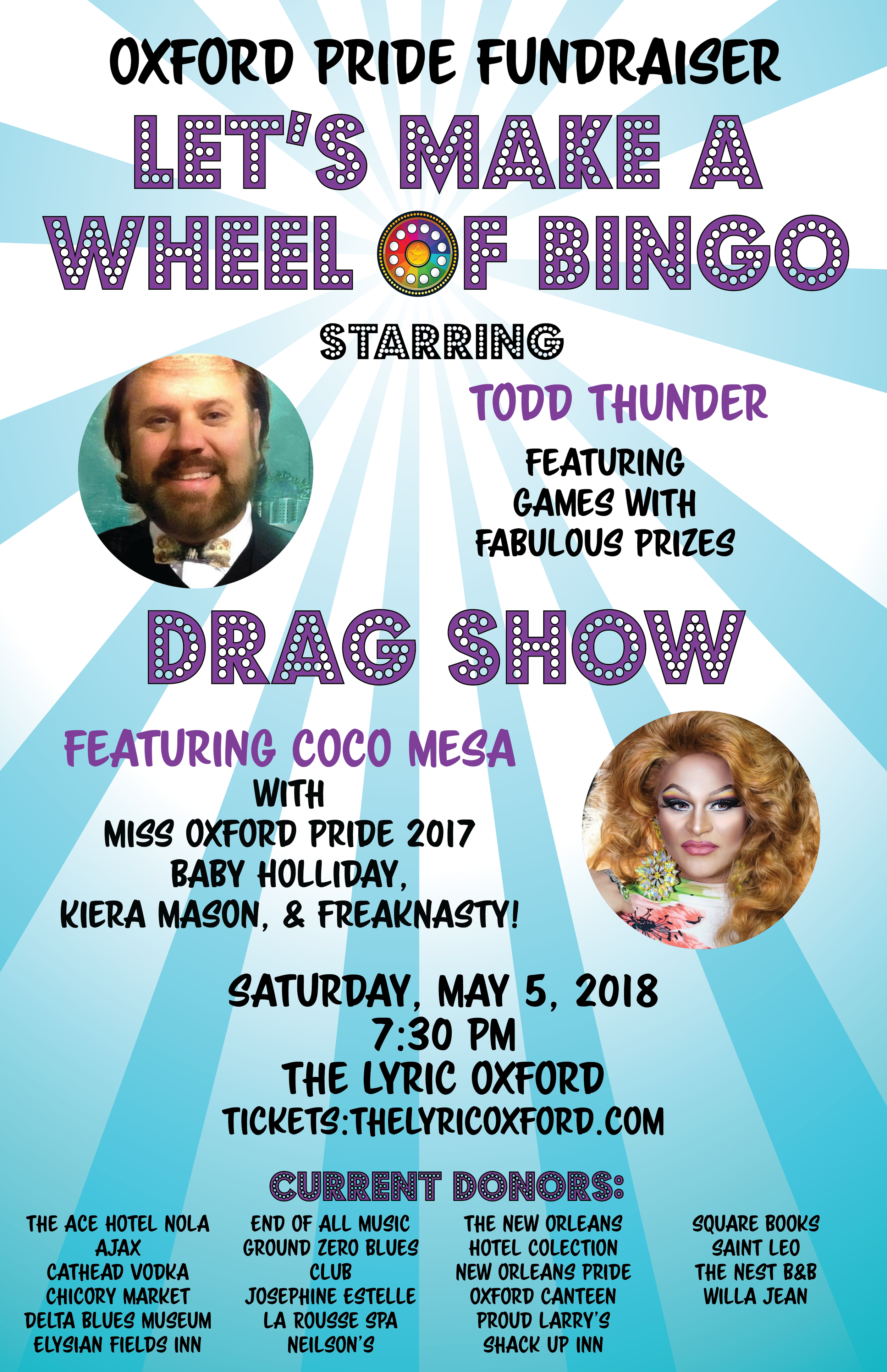 Poster for Pride Fundraiser