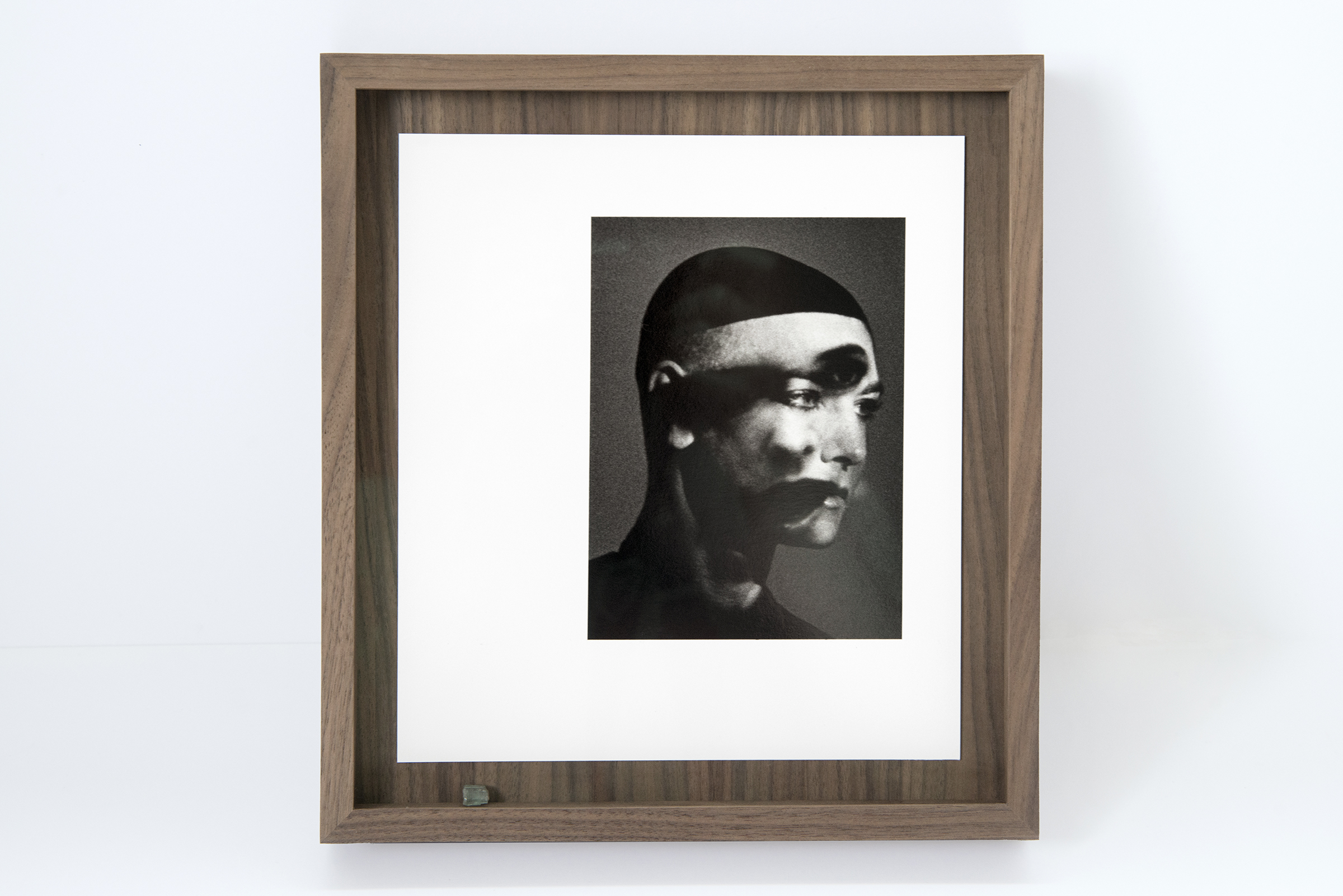 David Belisle photograph  Pslam 91  in natural walnut wax cap frame with matching panel