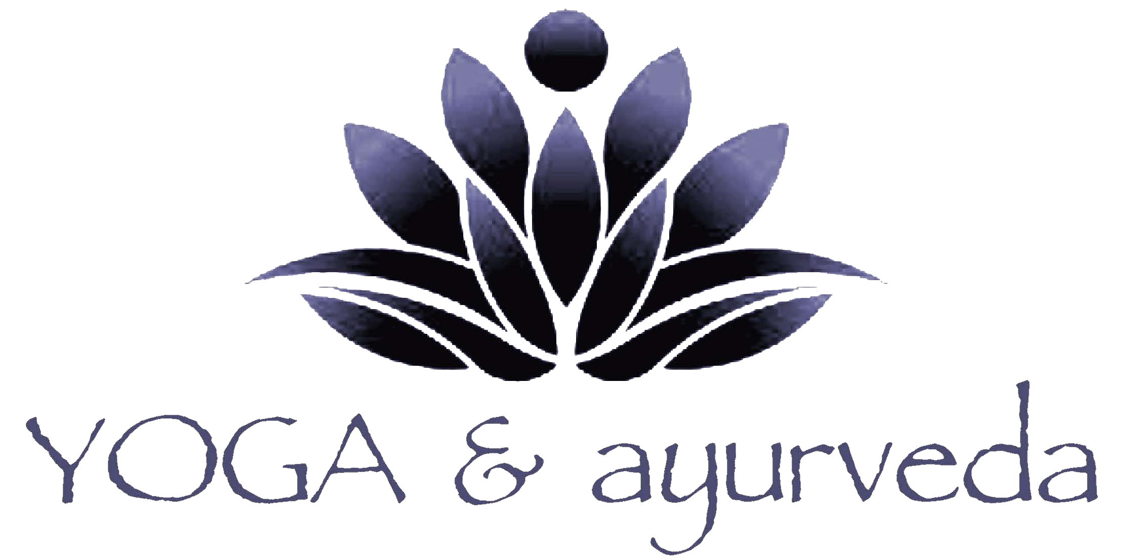logaayurveda logo letters below purple Papyrus 24 in x 12 in trans.png