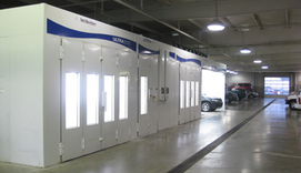 We have four BLOWTHERM paint booths for a factory-like finish and faster dry times.