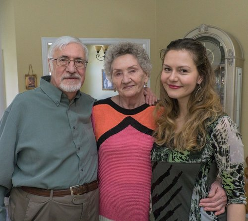 A very candid picture of me and my grandparents