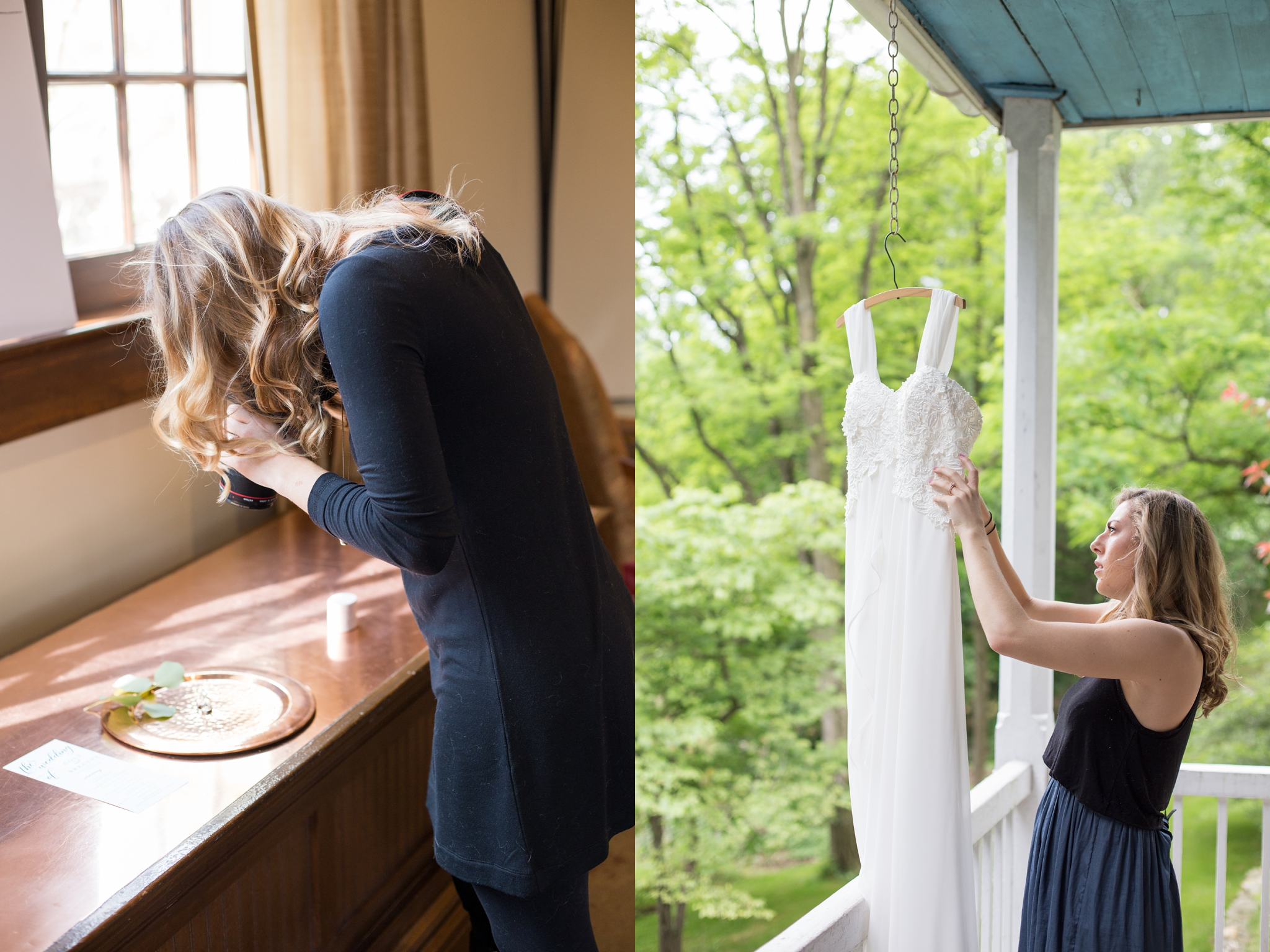 Each day starts off with some details! Don't worry though, no dresses were harmed or made dirty in the making of these photos.