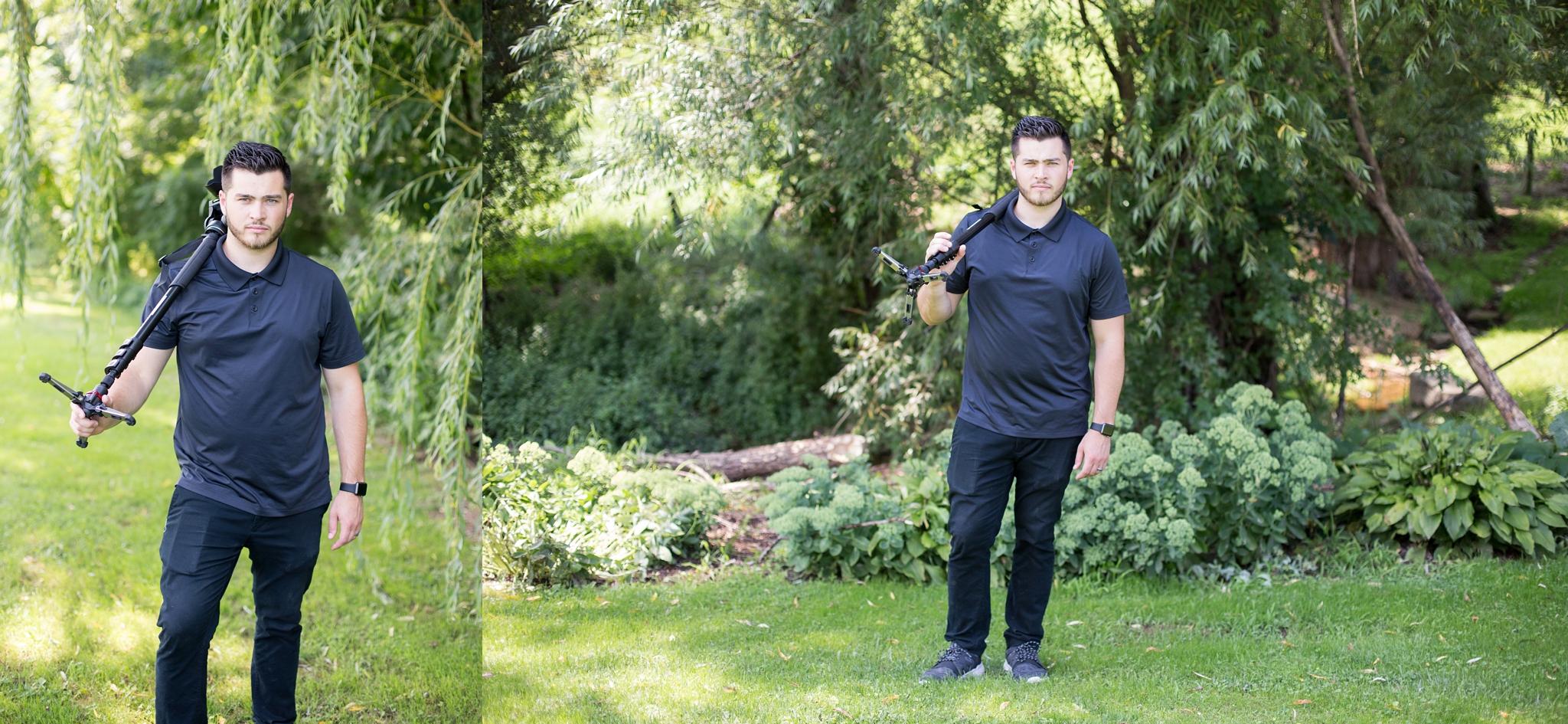 Ben Bodnar (Ben Bodnar Films) killin' it with his model status for some pre-groomsmen shots ;)
