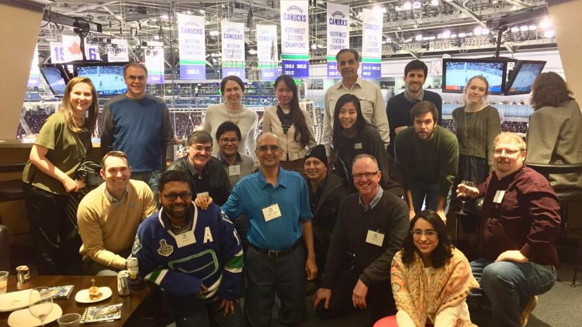Photo: Be a Host and  IEEE Vancouver Section  at a Vancouver Canucks Hockey Game.