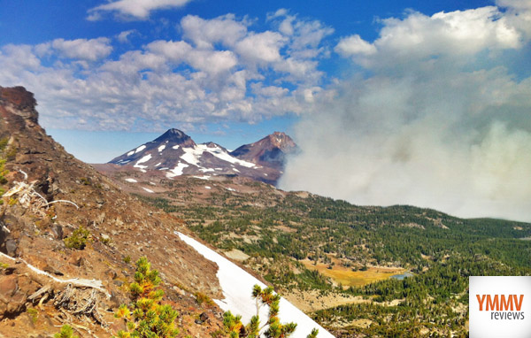 Not too far from the forest fire -