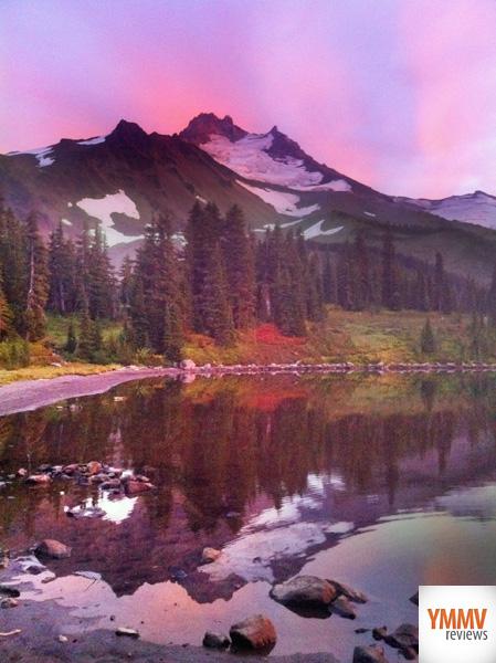 Sunset over Mt Jefferson -