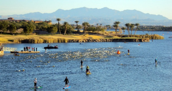 Swimming in Lake Las Vegas -