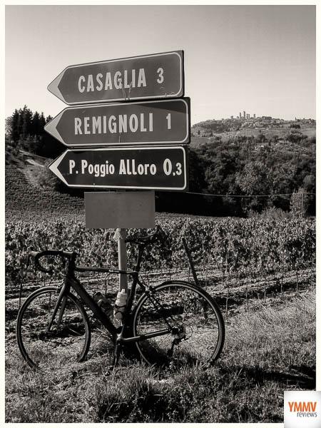 To San Gigimnamo on the hill.