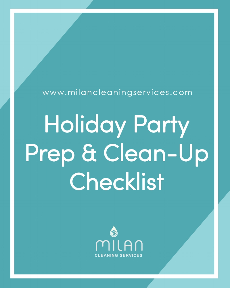 Holiday Part Prep and Clean up Checklist