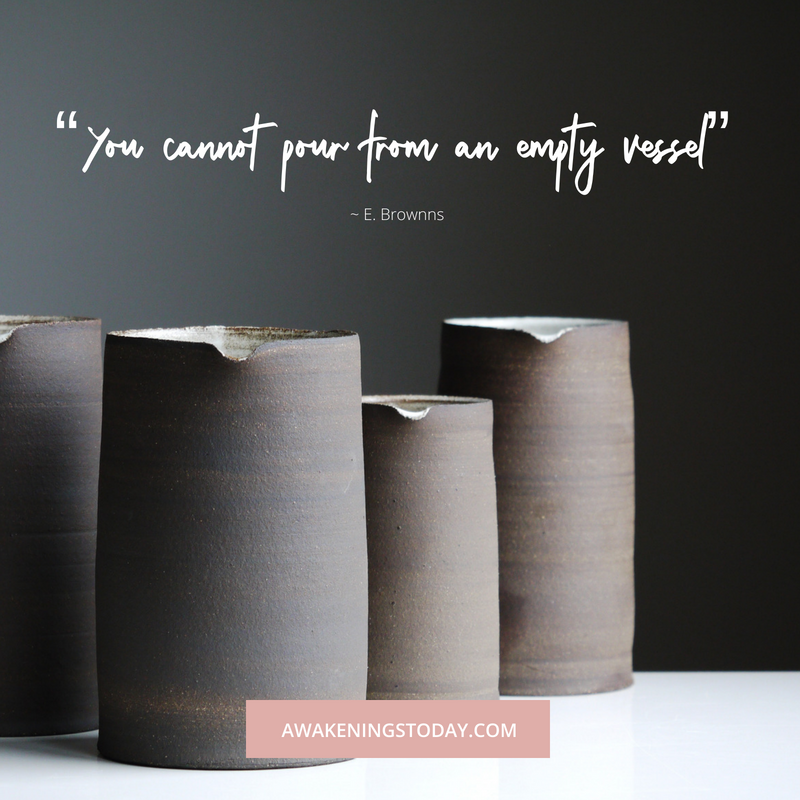 You cannot pour from an empty vessel