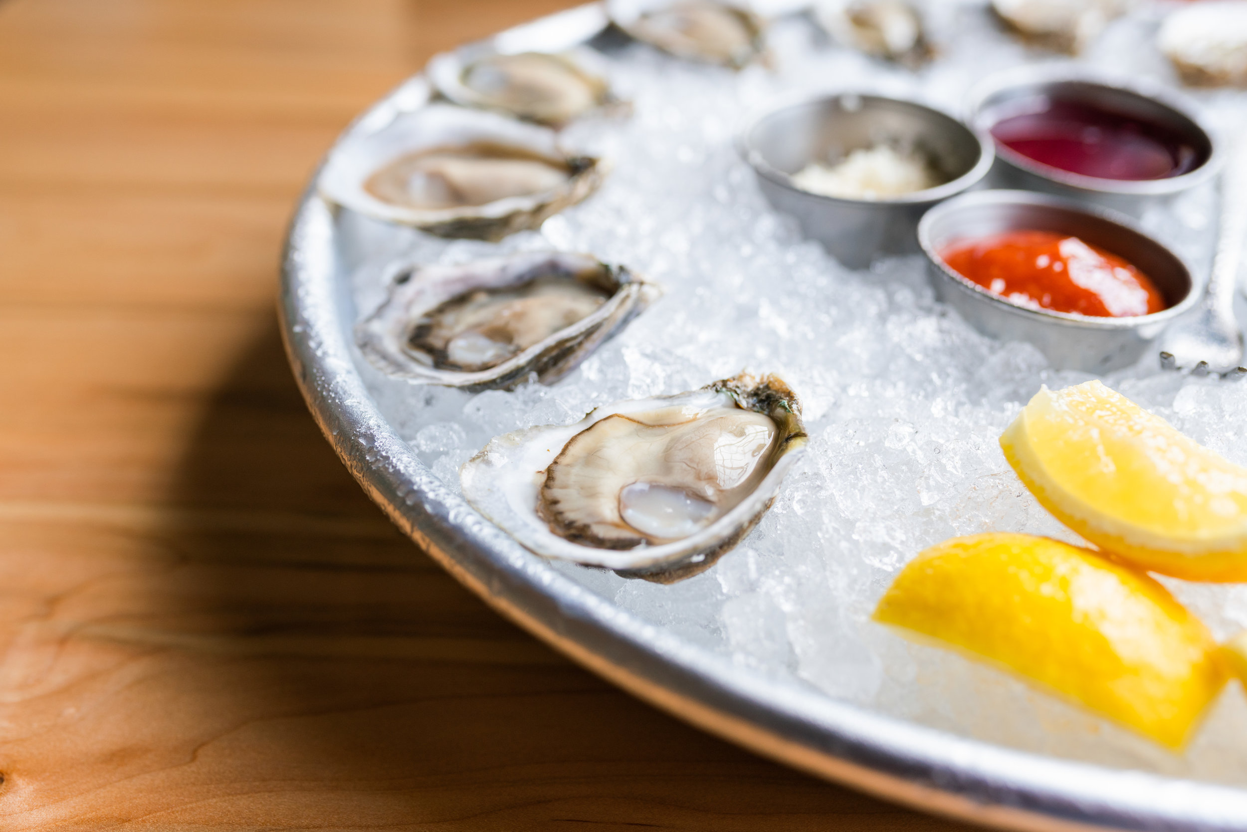 Raw NC oysters on the half shell at Locals Oyster Bar | Photo Credit: Owen Scott Jordan.jpg